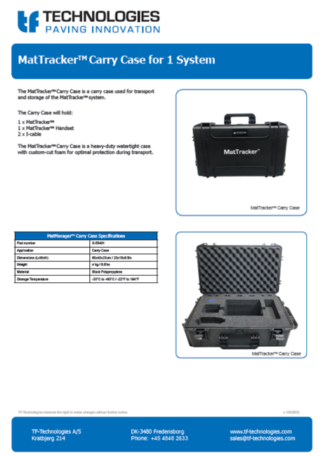 MatTracker Carry Case for 1 system